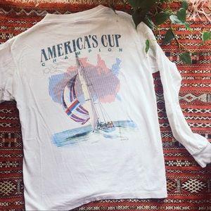 Vintage 1987 Sailing Cup Longsleeve Tee